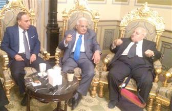 """وصول سلامة وعكاشة لمقر انعقاد مؤتمر الأهرام القومي لـ""""صحة الشباب"""""""