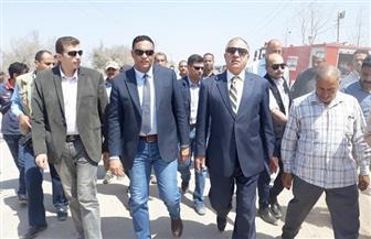 وزير التنمية المحلية وسكرتير عام المنوفية يتفقدان المدفن الصحي بكفر داود بمدينة السادات  صور