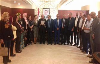 نشطاء وتيارات سياسية قومية وناصرية ينددون بالعدوان الثلاثي ضد سوريا ويلتقون السفير السوري بالقاهرة | صور