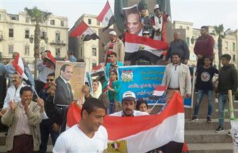 احتفالات عارمة بميدان سعد زغلول بالإسكندرية لفوز السيسي بفترة رئاسية جديدة | صور