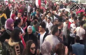 احتفالية كبرى في روكسي بفوز السيسي في الانتخابات الرئاسية | فيديو