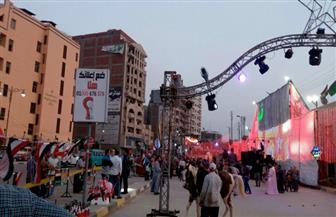 احتفالات بفوز الرئيس السيسي بفترة ثانية في ميادين المنوفية | صور