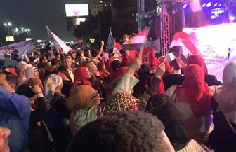 احتفالات كبري في ميدان هشام بركات بفوز الرئيس السيسي بفترة ثانية | فيديو