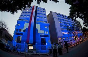 """مبنى """"التضامن"""" يكتسي باللون الأزرق في اليوم العالمي للتوحد   صور"""