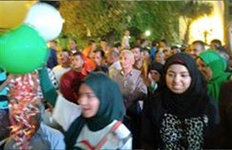آلاف المواطنين بقنا يحتفلون بفوز الرئيس السيسي في الانتخابات الرئاسية | صور
