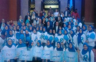 جامعة الإسكندرية تشارك في احتفالات اليوم العالمي للتوحد بوقفة لرئيسها وأساتذتها