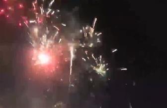 شاهد احتفالات المصريين بالألعاب النارية عقب إعلان فوز السيسي رسميا بفترة ثانية | فيديو