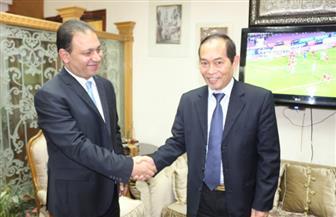 رئيس التليفزيون يلتقى سفير دولة فيتنام لتفعيل التعاون الإعلامى