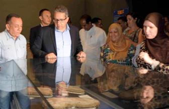 وزير الآثار خلال تفقد صالات عرض جديدة بمتحف الأقصر: استرداد 9 قطع أثرية من الخارج| صور