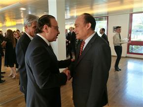 ياسر القاضي يناقش استضافة مصر المؤتمر العالمي للاتصالات في جنيف | صور