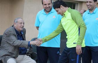 رئيس المقاصة يجتمع مع اللاعبين ويحثهم على الفوز على الاتحاد والمقاولون| صور