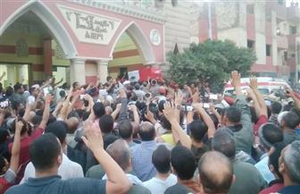 أهالي أبنوب يشيعون جثمان الشهيد فاروق جعفر | صور