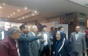 الخشت يفتتح ملتقى جامعة القاهرة الثاني للتوظيف والتدريب بمشاركة 65 شركة   صور