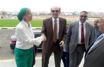 محمد صبحي يصل إلى جامعة السويس للمشاركة في ندوة بكلية الإعلام   صور
