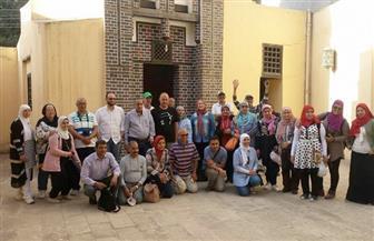 وفد من إدارة الوعى الأثرى بالقاهرة يزور آثار فوه الإسلامية بكفر الشيخ | صور