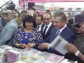 وزيرة الثقافة ومحافظ كفرالشيخ يفتتحان الدورة الخامسة لمعرض الكتاب بمدينة دسوق | صور