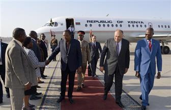 وزير الخارجية يلتقي الرئيس الكيني خلال توقفه بمطار القاهرة