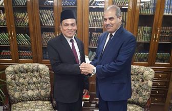 المحرصاوي يستقبل رئيس جامعة السلطان معظم شاه الإسلامية العالمية بماليزيا | صور