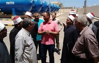 وفد من وعاظ وأعضاء لجنة الفتوى بالبحر الأحمر يزور محطة اليسر لتحلية المياه بالغردقة