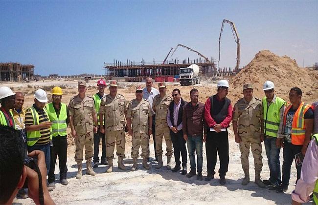 اللواء كامل الوزير يتفقد فندق القوات المسلحة بمدينة العلمين الجديدة -