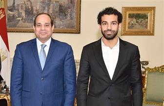 الرئيس السيسي يهنئ محمد صلاح بفوزه بجائزة أفضل لاعب في الدوري الإنجليزي