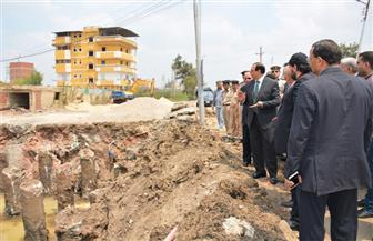 محافظ الدقهلية يوقف أعمال بناء تعد على الطريق بطلخا.. ويفرض حراسة على الموقع | صور