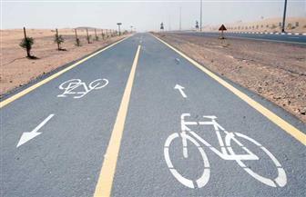 افتتاح مسار الدراجات بطريق جمال عبدالناصر