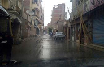 طقس سيىء وهطول أمطار غزيرة بعدة مناطق في المنوفية |صور