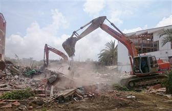 استمرار أعمال الإزالة العشوائيات بقرية الصيادين في رأس البر | صور