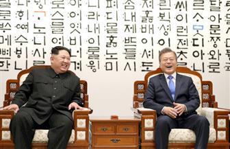 كيم ومون يزرعان شجرة صنوبر فى الخط الفاصل العسكرى بين الكوريتين