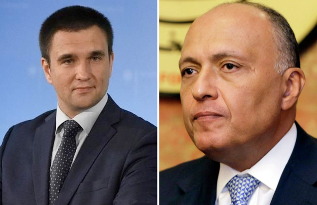 مؤتمر صحفي لوزيري الخارجية المصري والأوكراني اليوم -