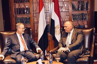 وزير الخارجية يؤكد التزام مصر بدعم استقرار اليمن والحل السياسى للأزمة | صور