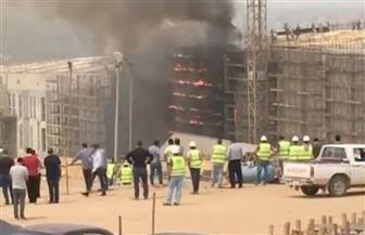 الدفع بـ20 سيارة إطفاء للسيطرة على حريق بالمتحف الكبير