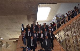 """وزير الخارجية الفرنسي ورئيس """"القومية للأنفاق"""" يتفقدان أعمال تنفيذ محطة مترو هليوبوليس   صور"""