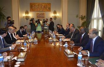 بدء مباحثات وزيري خارجية مصر وفرنسا  بالقاهرة | صور