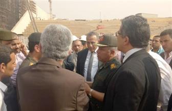العناني وكامل الوزير وقيادات الداخلية ومحافظة الجيزة يتفقدون المتحف الكبير بعد الحريق | صور