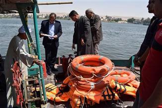 رئيس مدينة أبو قرقاص بالمنيا يتفقد حالة المعديات ببني حسن