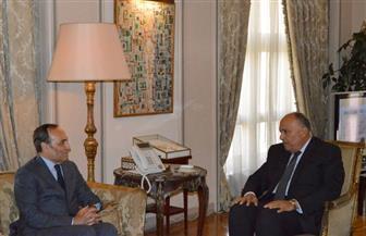 سامح شكري يستقبل رئيس مجلس النواب المغربي