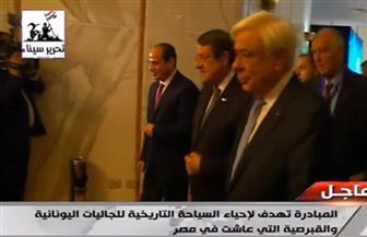 الرئيس السيسي يشكر نظيره القبرصي لإعادة قطع أثرية مصرية.. ويؤكد: الهجرات ساهمت في تحقيق التعددية | فيديو