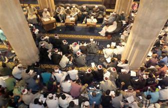 """الآلاف يشاركون في """"مجلس حديثي"""" بالجامع الأزهر بمناسبة ليلة النصف من شعبان   صور"""
