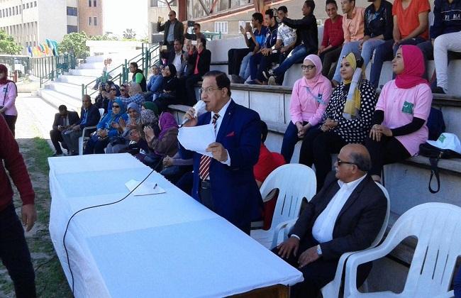 جامعة الإسكندرية تفوز بالمركز الأول في مسابقات الأنشطة الطلابية و طنطا  تحصد الثاني   صور -