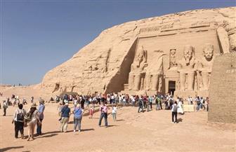 """""""البحوث الفلكية"""" تنظم احتفالية بمناسبة تعامد الشمس على معبد أبوسمبل"""