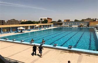 افتتاح تجريبى لحمام السباحة الأوليمبى بالأقصر بمناسبة شم النسيم| صور