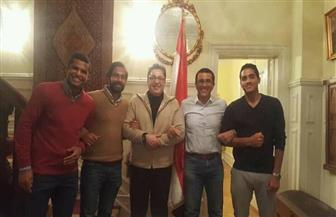 فريق التنس المصرى فى ضيافة سفارة مصر بكوبنهاجن قبل مشاركته ببطولة ديفيس| صور
