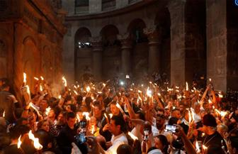 """الأقباط الأرثوذكس ينتظرون """"النور المقدس"""" بقبر المسيح فى كنيسة القيامة بالقدس   صور"""