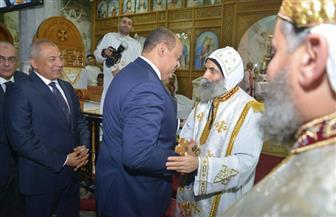 محافظ مطروح يشارك الأقباط احتفالات عيد القيامة بكنيسة السيدة العذراء| صور