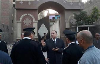 مدير أمن الجيزة يتفقد الخدمات الأمنية بمحيط الكنائس بمناسبة عيد القيامة | صور