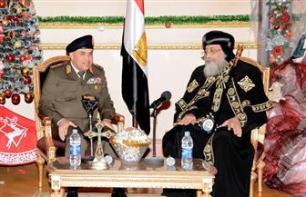 وزير الدفاع مهنئا البابا تواضروس: نعتز بمواقفكم الوطنية التي أكدت أن شعب مصر نسيج واحد