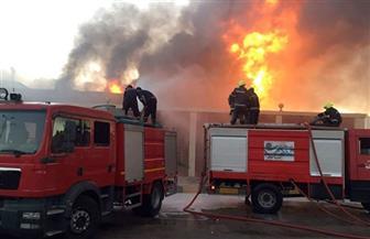 إصابة صاحب مطعم وعامل في حريق بالفيوم