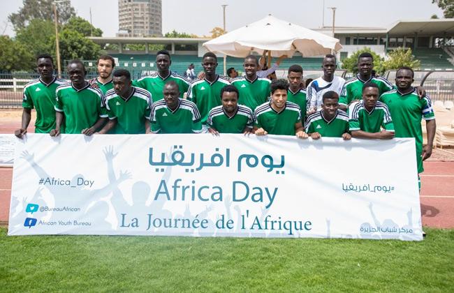 منافسات رياضية وقافلة طبية.. فى احتفال  الشباب والرياضة  بيوم إفريقيا بمركز شباب الجزيرة  صور -